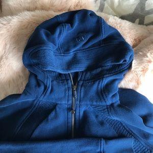 ONYX BLUE lululemon Scuba hoodie, size 10